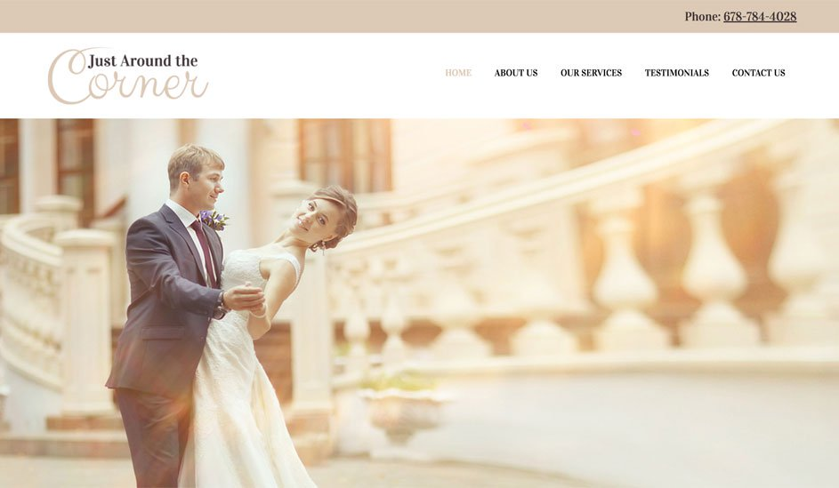 Website design template for a wedding agency