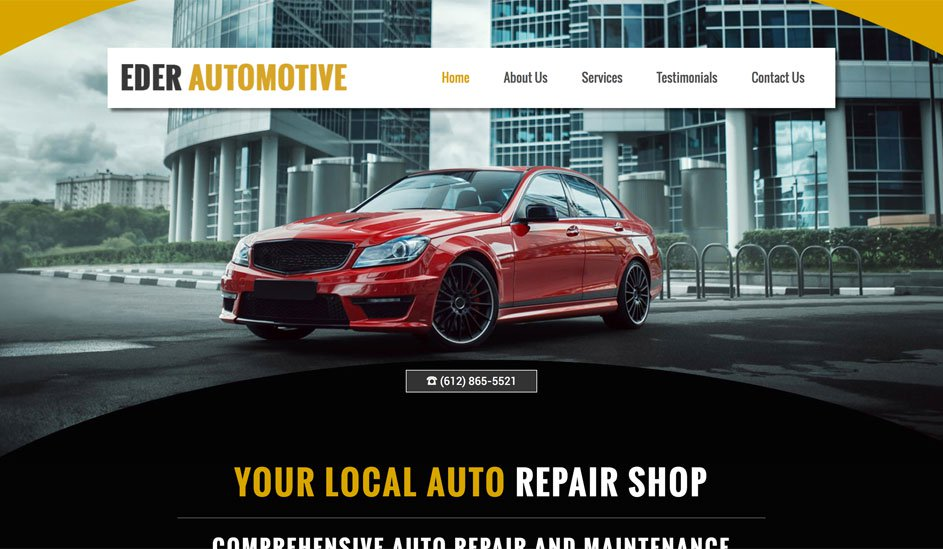 Website design template for car services
