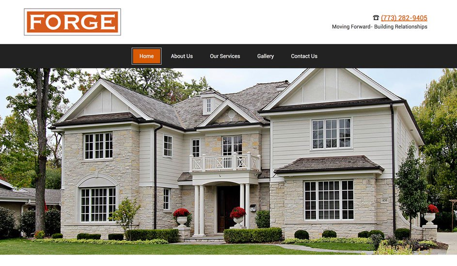 Website design template for Property for sale