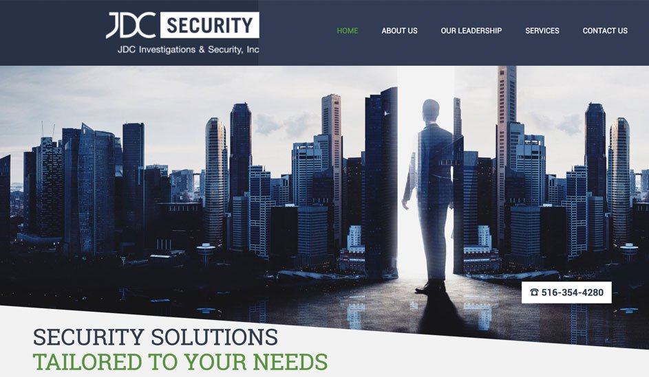 Website design template for a security company