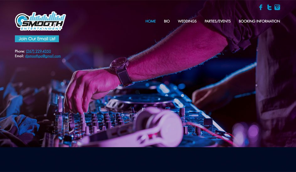 Website design template for night club